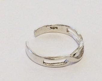 Size 5 Sterling Silver Adjustable Filigree Toe Ring