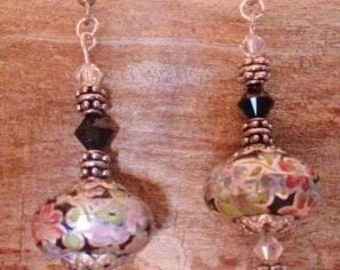 Lovely Swarovski Crystals With Floral Rounds