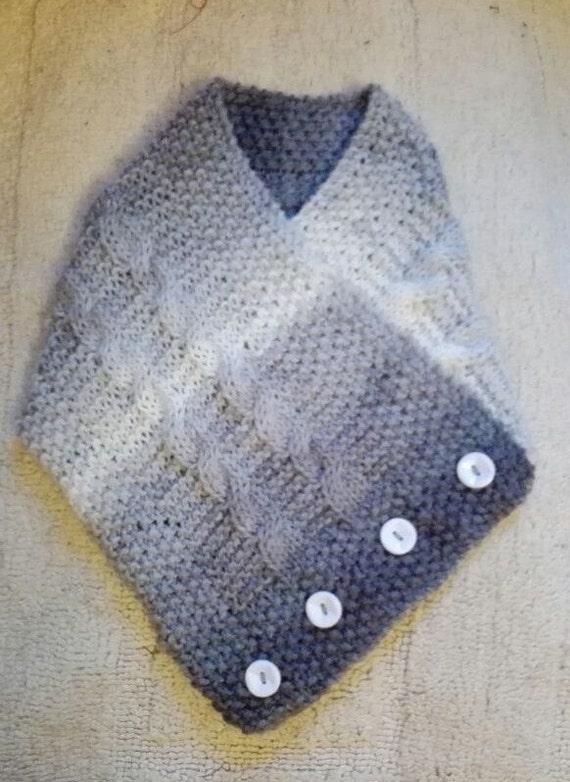 Knitting Pattern Scarf Collar : Knitting Pattern: Easy Collar Scarf