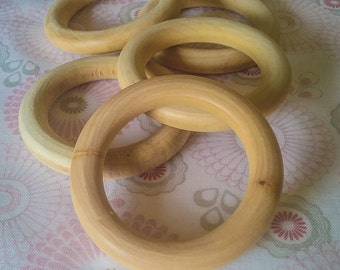 Wooden Teething Ring - Maple 68mm Pack of 5