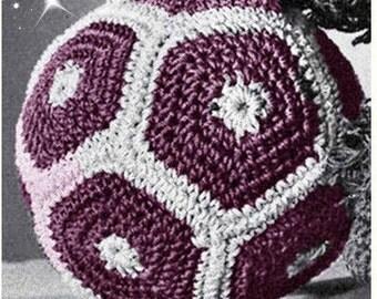 Crochet BALL Pattern Vintage 70s Crochet Baby Soccer Ball Pattern Crochet Toy Pattern
