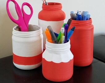 Painted Jars Set of Four