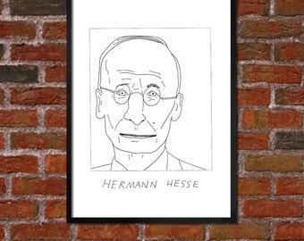 Badly Drawn Herman Hesse - Literary Poster - *** BUY 4, GET A 5th FREE***