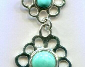 Flower Blossoms link necklace