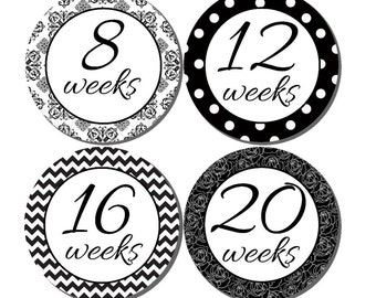 Maternity Stickers, Weekly Pregnancy Stickers, Pregnancy Announcement, Pregnancy Belly Stickers, Pregnancy Photo Prop, P05