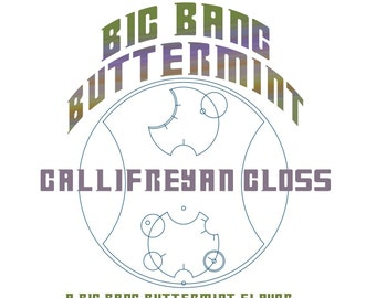 CLEARANCE! Big Bang Buttermint Gallifreyan Gloss - Buttermint Flavored / Glittery Clear Lip Gloss - Doctor Who Inspired
