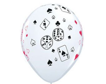 Cards and Dice Latex Balloons