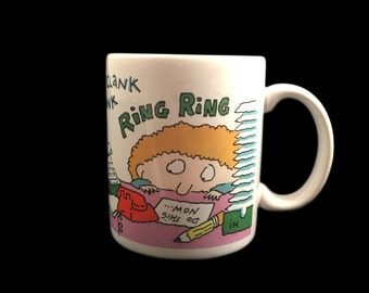 SALE Retro/Vintage 1980s - 80s Life at the office job coffee mug - How To Get Along at the Office