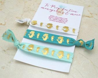 Mermaid and Seahorse - Set of 3 - Hair Ties