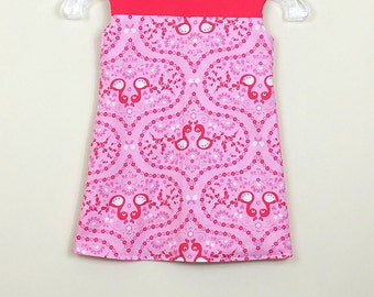 """Size 3 - Fully reversible - """"Alexandra Dress"""" -  Love Swans with Love birds on the reverse"""