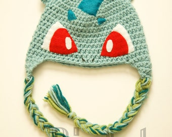 Bulbasaur Crochet Hat | Bulbasaur Costume Hat | Pokemon Winter Beanie