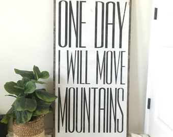 one day I will move mountains | farmhouse nursery decor | boy nursery | farmhouse decor | fixer upper decor
