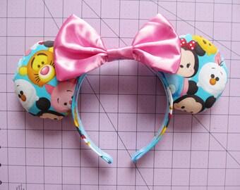 Tsum Tsum Characters Print Mouse Ears Headband
