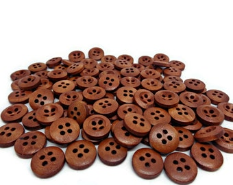 brown buttons, coffee buttons, brown wood buttons, sewing buttons, clothing buttons, cardmaking supplies, uk button supplies, coat buttons