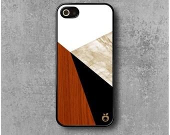 iPhone 5 / 5S / SE case Triangles Geometrical Wood