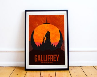 Gallifrey Travel Poster - Doctor Who - Retro Travel - Wall Art - (Available In Many Sizes)