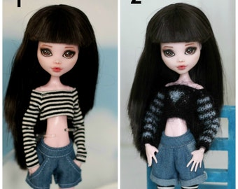 Denim shorts with pockets for Monster High / EverAfterHigh doll 1/6 size
