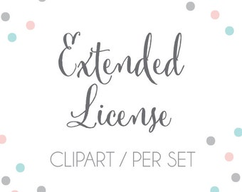 Extended Use Commercial License for ONE (1) clipart set by Tiny Confetti
