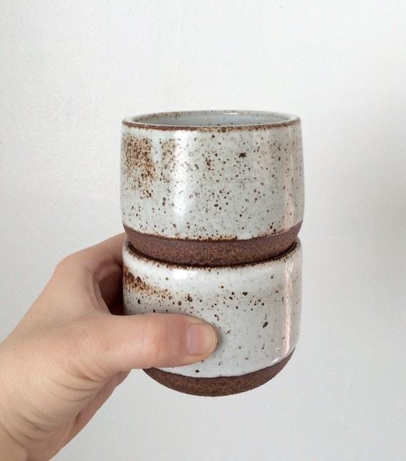 Handmade handleless coffee mugs funsize ceramics cups set of - Handleless coffee mugs ...