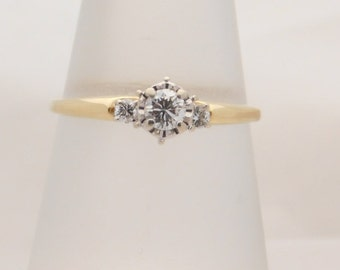 0.33 Carat T.W. Round Cut Diamond Engagement Ring 14K