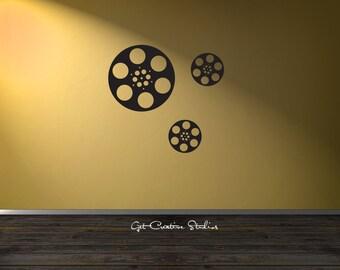 Film Reels Decal Movie Reels Decal Reel Decal Filmstrip Decal Movie Decal Reels Wall Decal Hollywood Wall Decal Hollywood Decal Home Theater