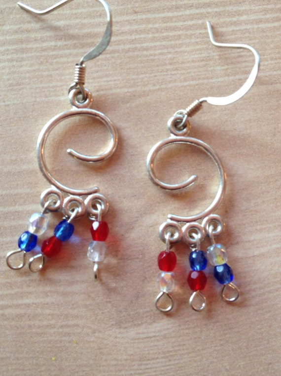 4th of july earrings patriotic earrings 4th of july earrings by 6253