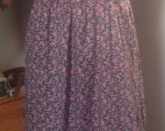 1970s, Hippy, Boho, Floral Ditsy Print, Sun Dress size 12-14 (uk)