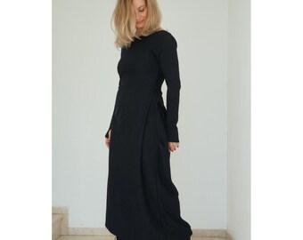 Maxi Dress, Gothic Dress, Steampunk Dress, Plus Size Dress, Boho Dress, Long Sleeve Dress, Elegant Dress, Long Black Dress, Casual Dress