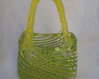 Murano Style Glass Purse