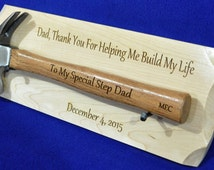 Gift ~ Wedding Gift For Step Dad ~ Gift To Dad ~ Engraved Hammer Gift ...