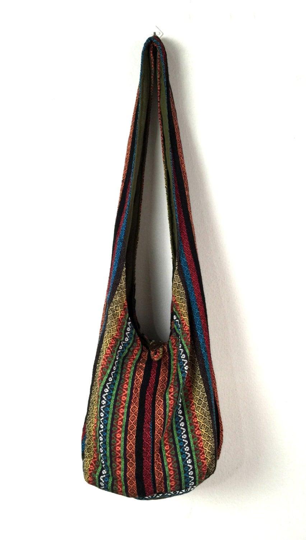 classic hippie crossbody bag hobo woven shoulder bag