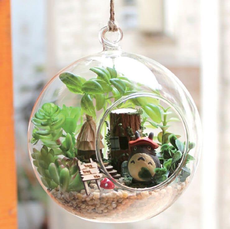 diy 12cm hanging glass terrarium kit diy glass house glass. Black Bedroom Furniture Sets. Home Design Ideas