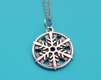 SNOWFLAKE Stainless Steel Necklace,snowflake,snow,Christmas,Winter,winter wonderland,snowman,frozen,1543