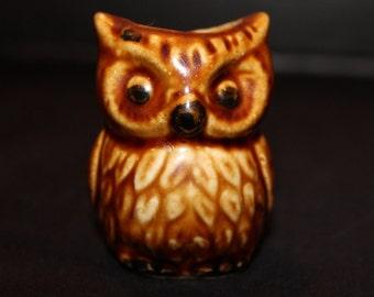 Vintage Owl Toothpick Holder, Ceramic, Japan, Owls, Barware, Toothpicks, Owl Figurine (B031)