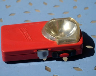 Torch vintage red Energizer - flashlight - accessory camping - 70s