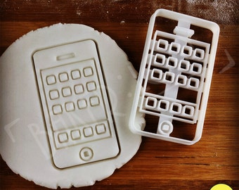 Classic Smart Phone cookie cutter | biscuit cutter | geek geeky geekery gift one of a kind ooak