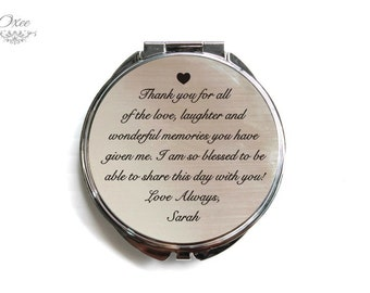 Personalized engraved pocket mirror | compact mirror | wedding gift | mother of the bride gift | birthday