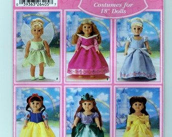 """Simplicity Pattern 5705 - 18"""" Doll Costumes - Uncut"""