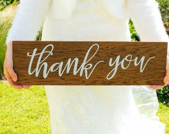 Thank You Wooden Wedding Sign - Photo Prop - Wedding Decor, Boho Wedding, Wedding Photo Prop Engagement Sign