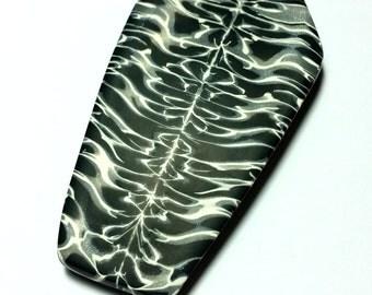 Coffin Symmetrical Polymer Clay Pendant