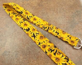 Lanyard Sunflower Lanyard Teacher Lanyard Nurse Lanyard Daisy Lanyard   Sunflowers  Work Lanyard Sunflower Keychain Flower Key Holder