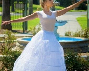 Amber Slip - Ball Gown Petticoat - Crinoline Petticoat - Bridal Slip - Petticoat Slip - A-Line Slip - Petticoat with Hoop - Long Slip