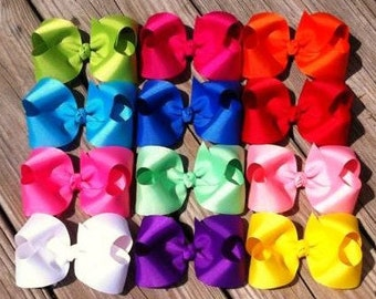 12 Piece 4 inch Hair Bow Set
