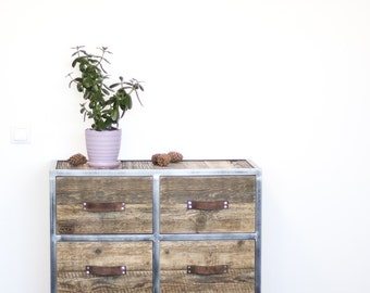 Industrial Chest of Drawers, Wardrobe: Rustic Reclaimed Barn Wood, Rustic And Industrial Reclaimed Barn Wood Furniture