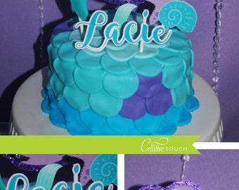 Ariel Cake Topper, The Little Mermaid, Mermaid, Mermaid Birthday, Mermaid Party, Mermaid Cake Topper, Ariel cake, Decoration