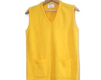 v neck sweater - vintage cardigan - yellow sweater - preppy sweater - vintage sweater - sweater vintage
