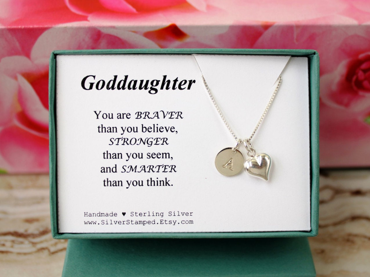 Gift For Goddaughter Necklace Sterling Silver By SilverStamped
