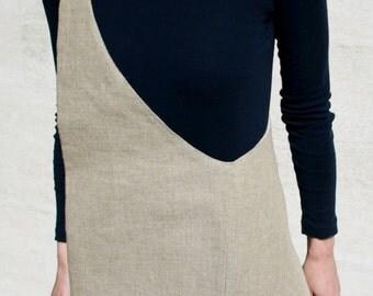 Shoulder bag pure linen washed natural