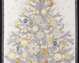 Winter Christmas Tree Panel