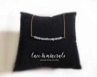 Necklace Natural Aquamarine Gold